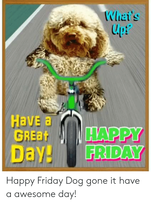 Dank, Friday, and Lpt: Whai's  lpt  upP  Have a  GREBHAPPY  Day! FRIDAY Happy Friday Dog gone it have a awesome day!