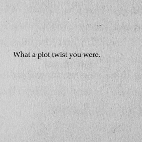 You, What, and Plot: What a plot twist you were.