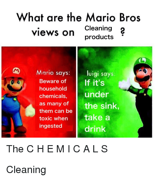 What Are The Mario Bros Cleaning 2 Products Views On Mario