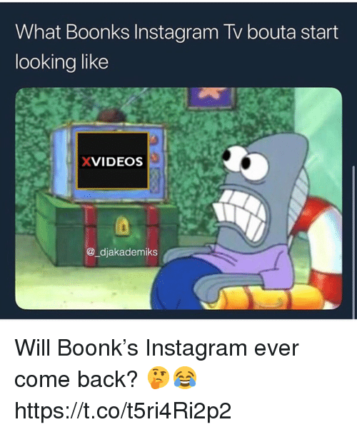 xvideos: What Boonks Instagram Tv bouta start  looking like  XVIDEOS  @_djakademiks Will Boonk's Instagram ever come back? 🤔😂 https://t.co/t5ri4Ri2p2