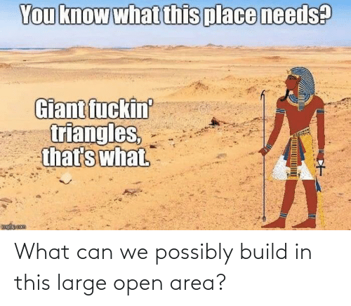 Possibly: What can we possibly build in this large open area?