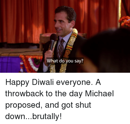 The Office, Happy, and Michael: What do you say?