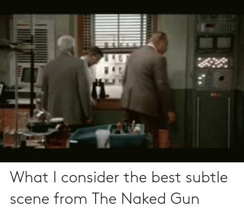 scene: What I consider the best subtle scene from The Naked Gun