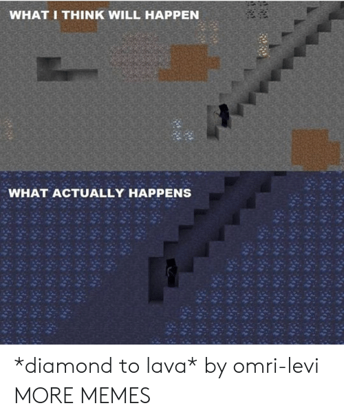 Dank, Memes, and Target: WHAT I THINK WILL HAPPEN  WHAT ACTUALLY HAPPENS *diamond to lava* by omri-levi MORE MEMES
