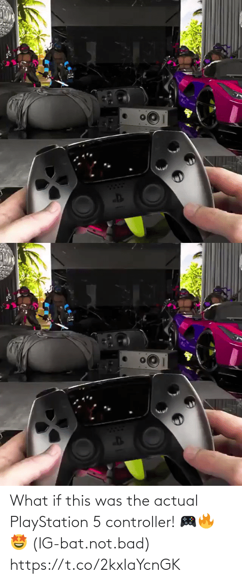controller: What if this was the actual PlayStation 5 controller! 🎮🔥🤩 (IG-bat.not.bad) https://t.co/2kxIaYcnGK