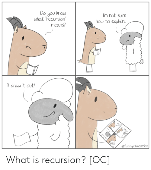 what: What is recursion? [OC]