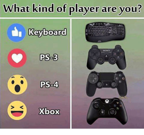 keyboarding: What kind of player are you?  I Keyboard  Keyboard  PS-3  PS-4  PS-4  S K  Xbox