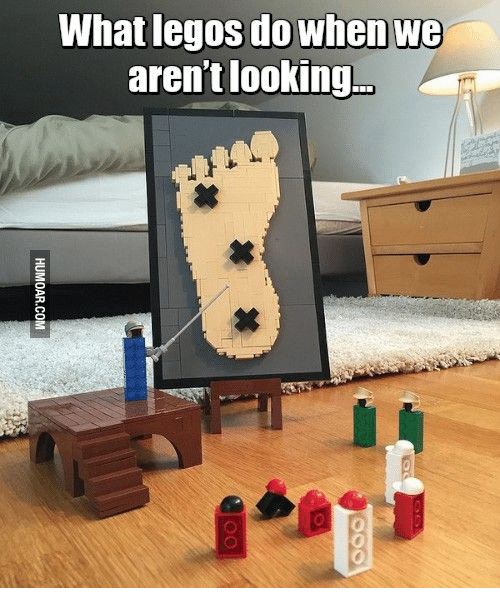 Legos: What legos do when we  aren't looking...  HUMOAR.COM