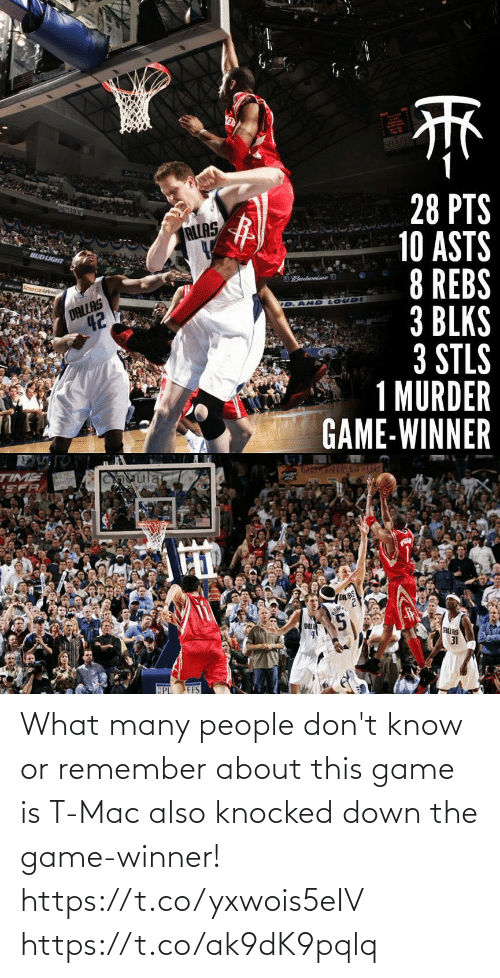 Game Winner: What many people don't know or remember about this game is T-Mac also knocked down the game-winner! https://t.co/yxwois5eIV https://t.co/ak9dK9pqlq