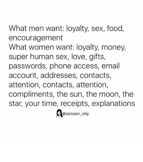 Women only want men with money