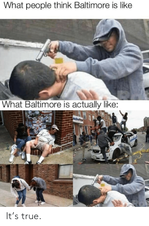 Like What: What people think Baltimore is like  What Baltimore is actually like: It's true.