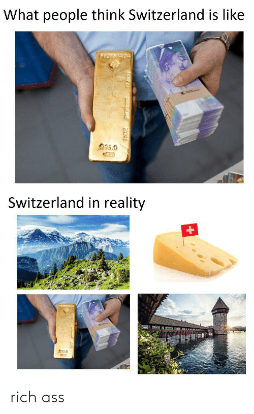 People Think: What people think Switzerland is like  995.0  Switzerland in reality  35.0  SurEALAND  2011 rich ass