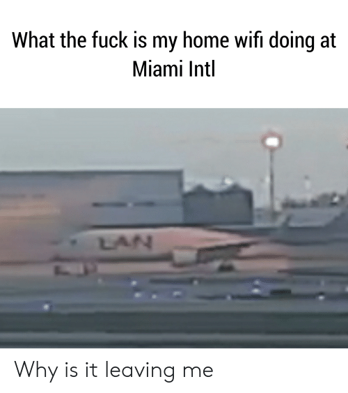 Reddit, Fuck, and Home: What the fuck is my home wifi doing at  Miami Intl  LAN Why is it leaving me