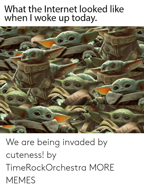 cuteness: What the Internet looked like  when I woke up today. We are being invaded by cuteness! by TimeRockOrchestra MORE MEMES