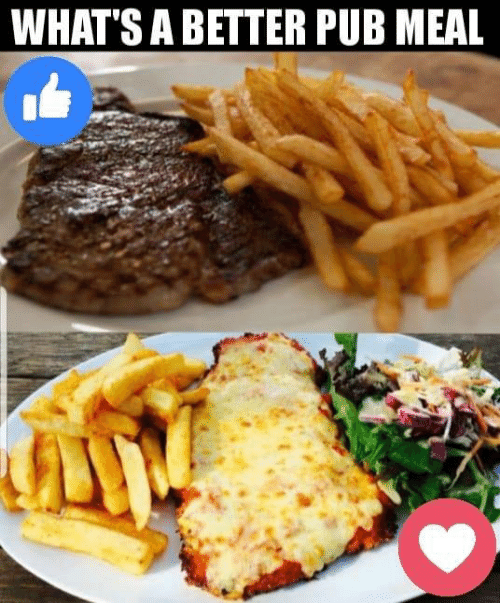 Memes, 🤖, and Whats: WHAT'S A BETTER PUB MEAL