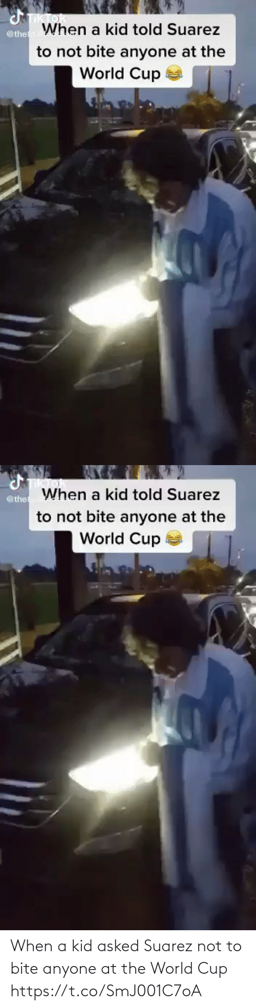 World Cup: When a kid asked Suarez not to bite anyone at the World Cup  https://t.co/SmJ001C7oA