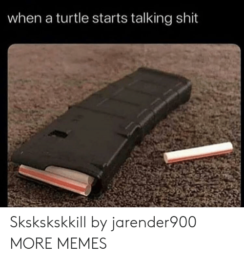Dank, Memes, and Shit: when a turtle starts talking shit Skskskskkill by jarender900 MORE MEMES