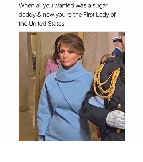 First Ladies: When all you wanted was a sugar  daddy & now you're the First Lady of  the United States ⠀