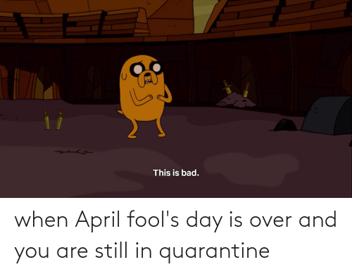 And You Are: when April fool's day is over and you are still in quarantine