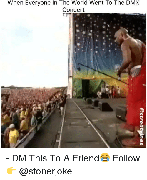 Dmx, Memes, and World: When Everyone In The World Went To The DMX  Concert - DM This To A Friend😂 Follow 👉 @stonerjoke