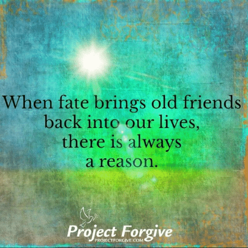 Friends, Memes, and Old: When fate brings old friends  back into our lives  there is always  a reason  Project Forgive  PROJECTFORGIVE.COM