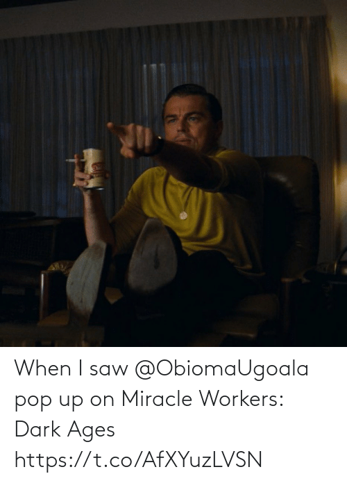 pop: When I saw @ObiomaUgoala pop up on Miracle Workers: Dark Ages https://t.co/AfXYuzLVSN