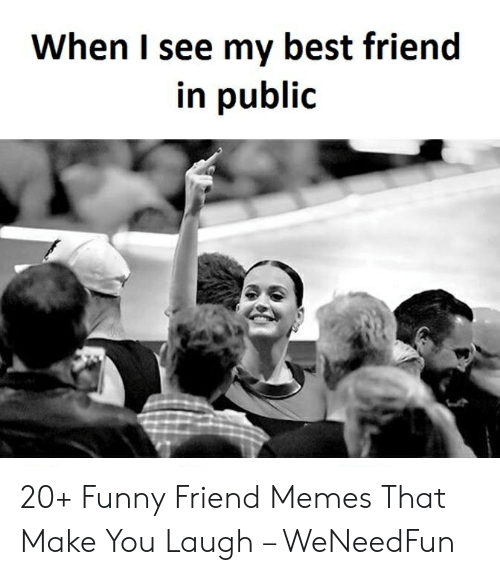 Best Friend, Funny, and Memes: When I see my best friend  in public 20+ Funny Friend Memes That Make You Laugh – WeNeedFun
