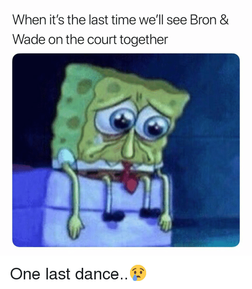 Basketball, Nba, and Sports: When it's the last time we'll see Bron &  Wade on the court together One last dance..😢