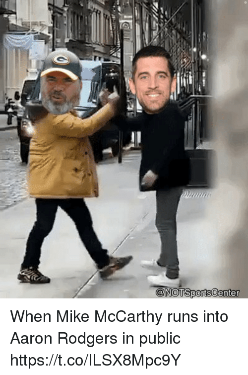 Aaron Rodgers, Sports, and Mike McCarthy: When Mike McCarthy runs into Aaron Rodgers in public https://t.co/ILSX8Mpc9Y