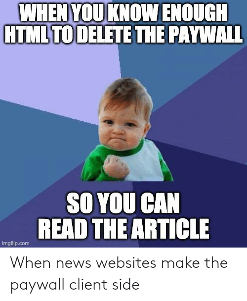 News: When news websites make the paywall client side