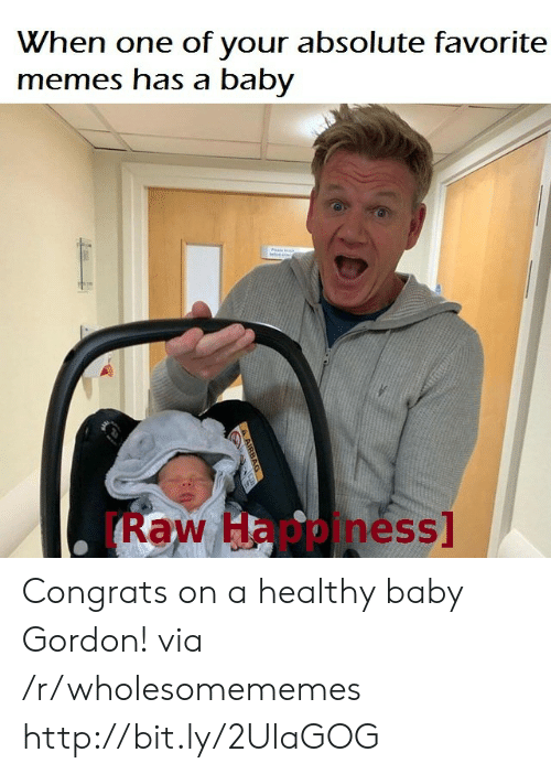 airbag: When one of your absolute favorite  memes has a baby  w  Raw Hppiness  A AIRBAG Congrats on a healthy baby Gordon! via /r/wholesomememes http://bit.ly/2UlaGOG