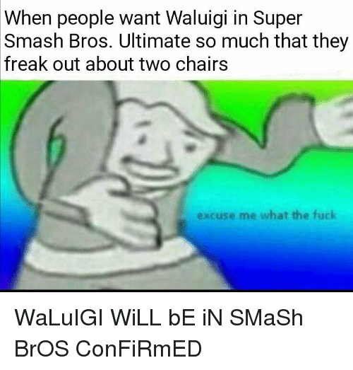 When People Want Waluigi in Super Smash Bros Ultimate So