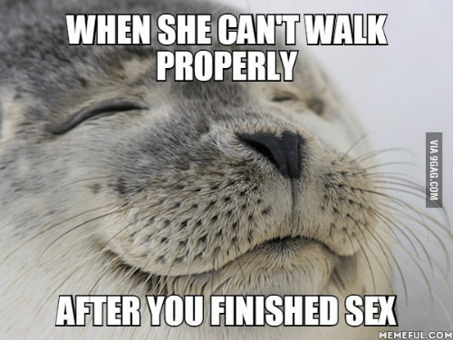 Sex Meme: WHEN SHE CANT WALK  PROPERLY  AFTER YOU FINISHED SEX  MEMEFUL COM
