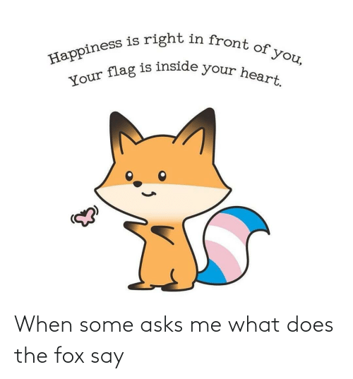 The Fox: When some asks me what does the fox say