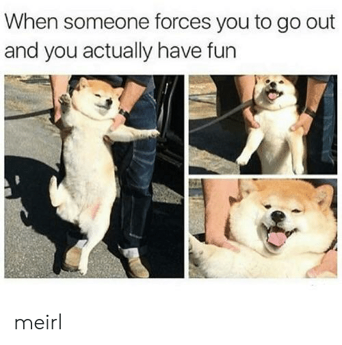 MeIRL, Fun, and You: When someone forces you to go out  and you actually have fun meirl