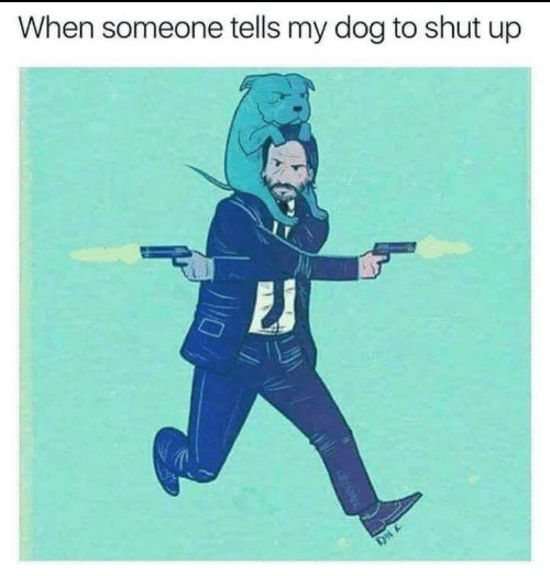 shut: When someone tells my dog to shut up