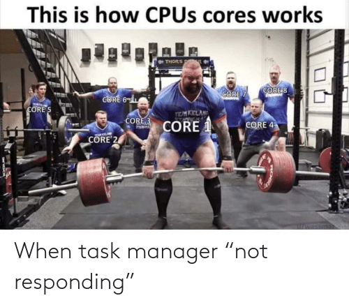 "manager: When task manager ""not responding"""