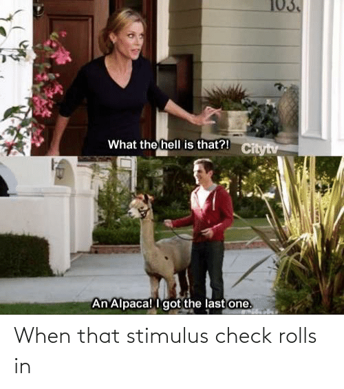 check: When that stimulus check rolls in