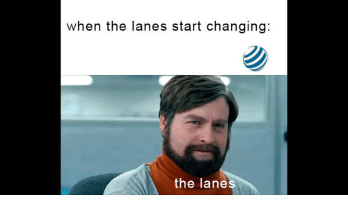 When, The, and When The: when the lanes start changing:  the lanes