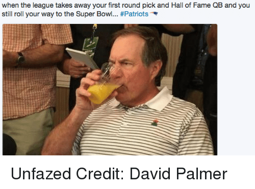 Nfl, Patriotic, and Super Bowl: when the league takes away your first round pick and Hall of Fame QB and you  still roll your way to the Super Bowl... Unfazed Credit: David Palmer