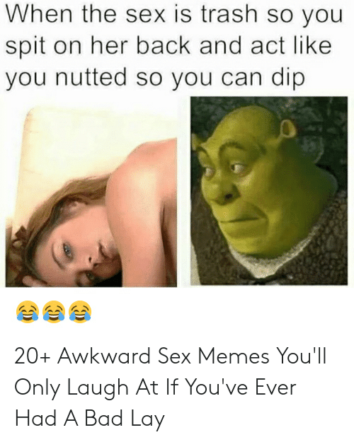 Best Sex Memes: When the sex is trash so you  spit on her back and act like  you nutted so you can dip 20+ Awkward Sex Memes You'll Only Laugh At If You've Ever Had A Bad Lay