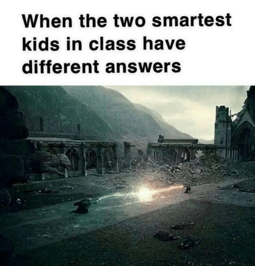 Kids, Answers, and Class: When the two smartest  kids in class have  different answers