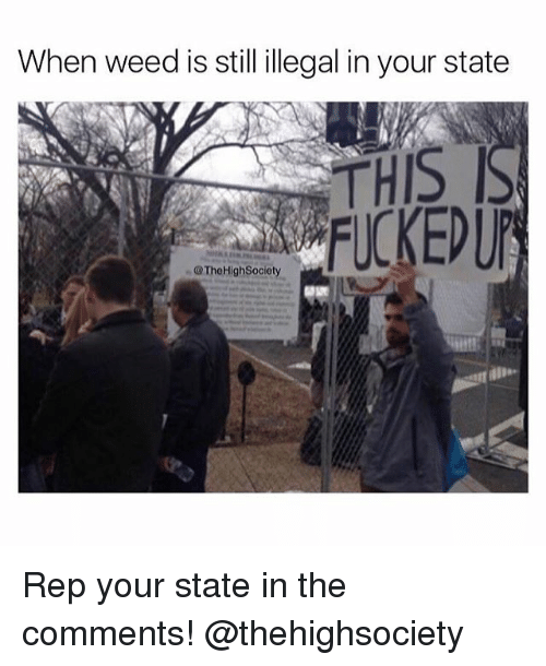 Weed, Marijuana, and Weeds: When weed is still illegal in your state  THIS  FUCKEDUP  TheHighSociety Rep your state in the comments! @thehighsociety