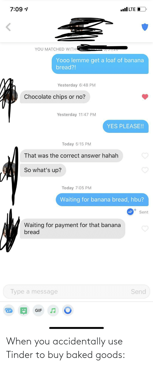 tinder: When you accidentally use Tinder to buy baked goods: