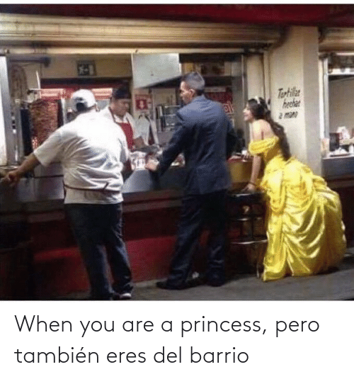 EsMemes: When you are a princess, pero también eres del barrio