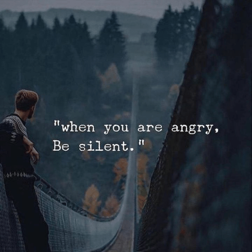 """Angry, You, and When You: """"when you are angry,  Be silent.  609060"""