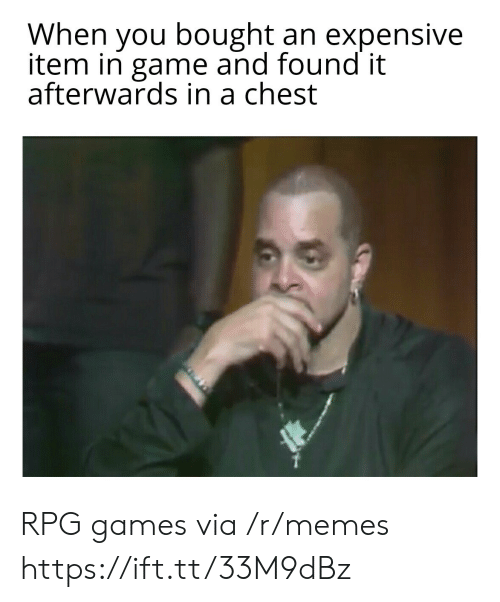 rpg: When you bought an expensive  item in game and found it  afterwards in a chest RPG games via /r/memes https://ift.tt/33M9dBz
