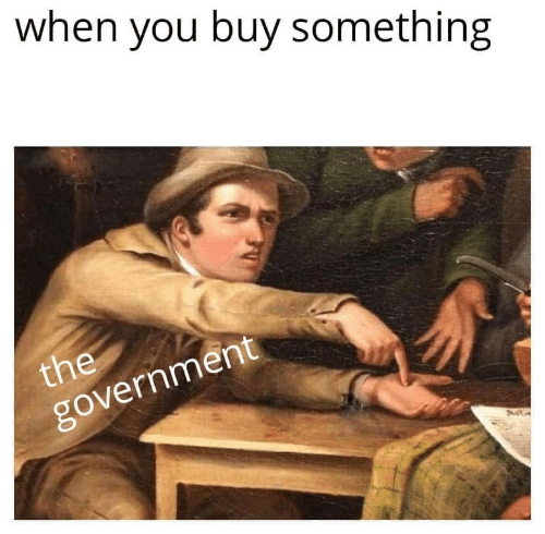 Government, You, and When You: when you buy something  the  government