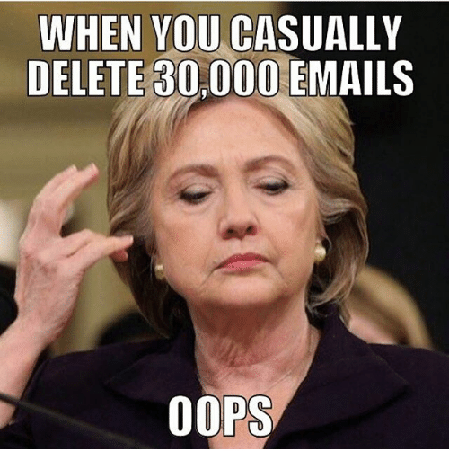 When You Ca Delete 80000 Emails Oops Meme On Esmemescom