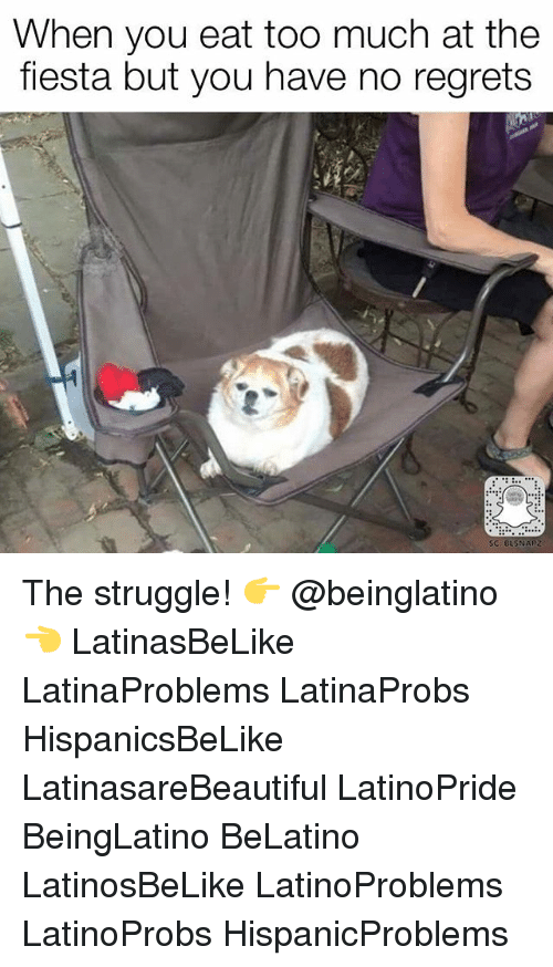 Memes, Struggle, and Too Much: When you eat too much at the  fiesta but you have no regrets The struggle! 👉 @beinglatino👈 LatinasBeLike LatinaProblems LatinaProbs HispanicsBeLike LatinasareBeautiful LatinoPride BeingLatino BeLatino LatinosBeLike LatinoProblems LatinoProbs HispanicProblems